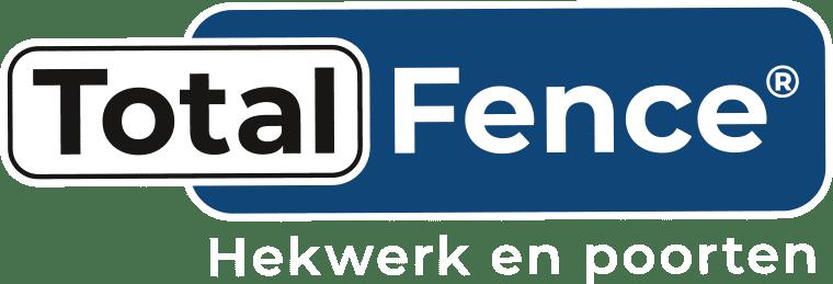Total Fence logo met witte letters